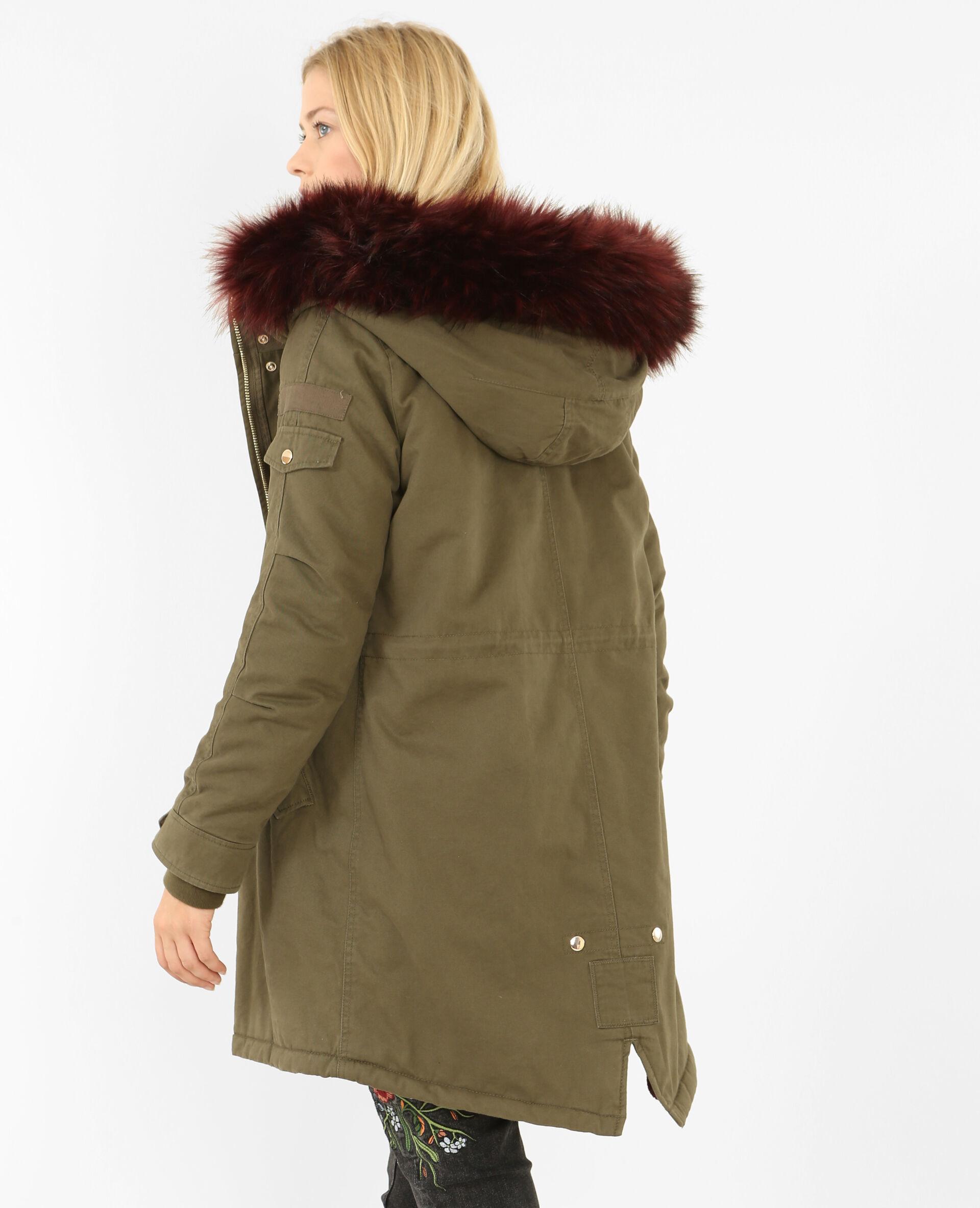 Manteau grosse capuche zara