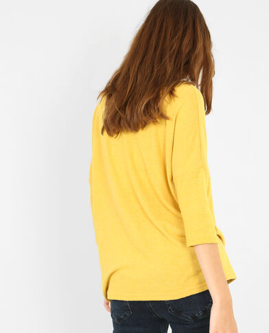 Pull doux jaune moutarde