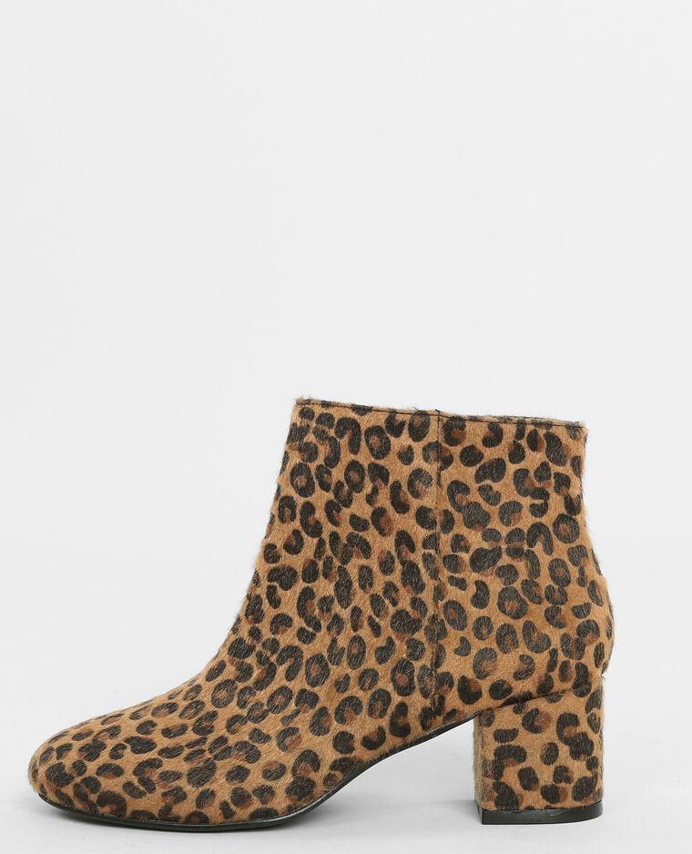 Botines de leopardo marrón