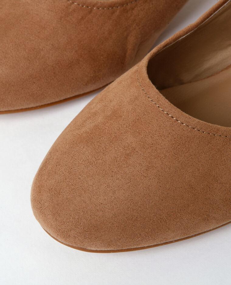Zapatos de tacón forrado marrón