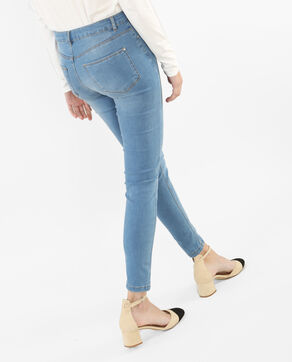 Jeggings mit hoher Taille Denimblau