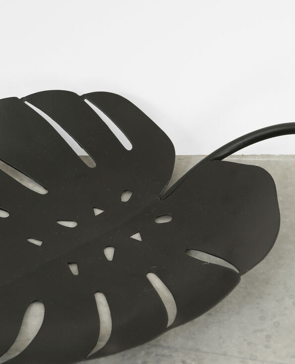 Deko-Schale in Blattform Schwarz