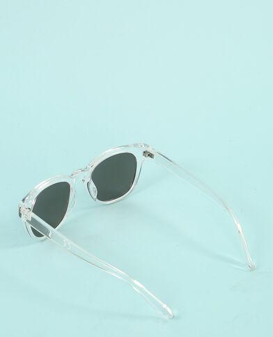 Lunettes de soleil transparentes blanc