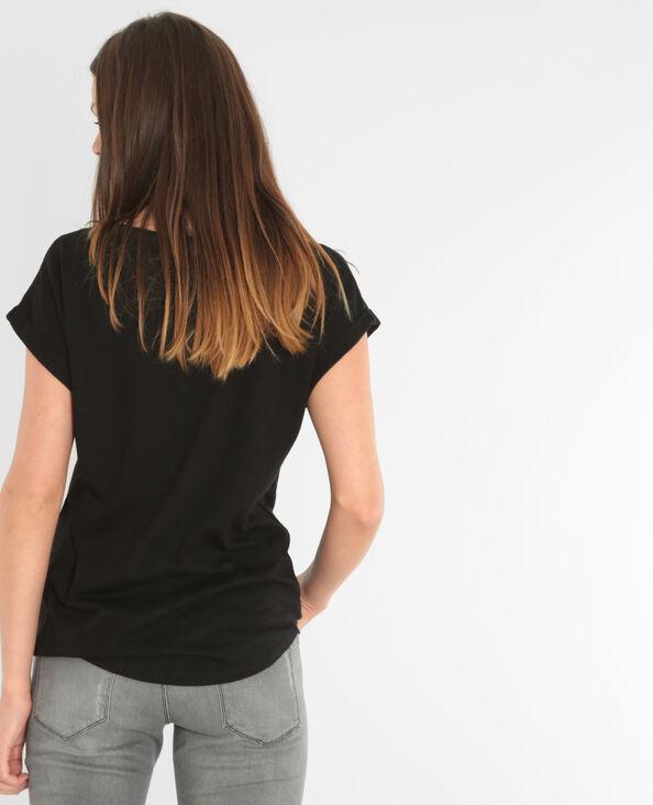 Camiseta ancha fantasía negro