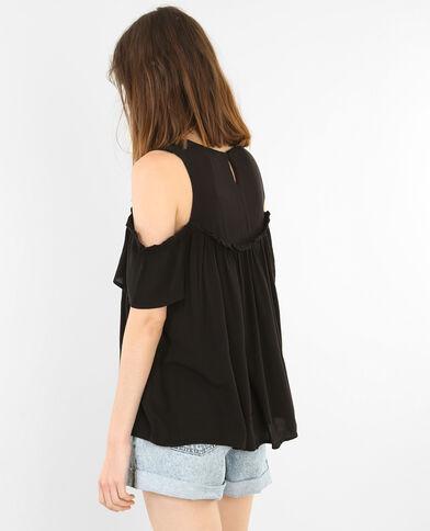 Blusa hombros descubiertos negro
