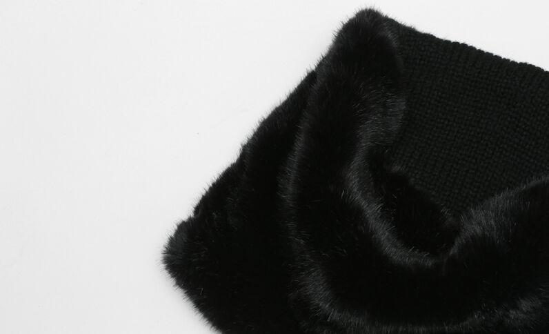 Snood fausse fourrure noir