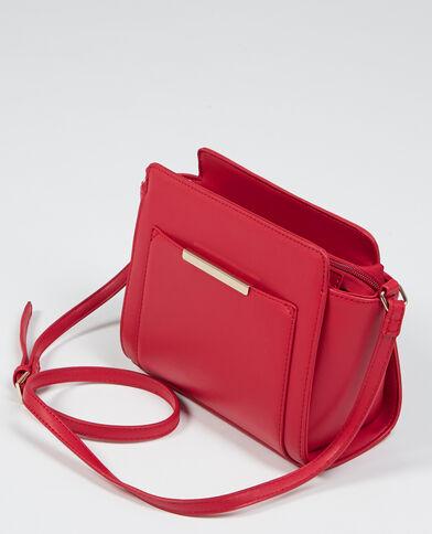 Kleine Tasche in Trapez-Form Rot