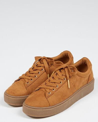 Scarpe da basket con plateau marrone