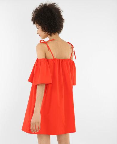 Vestido ancho mangas cut out rojo