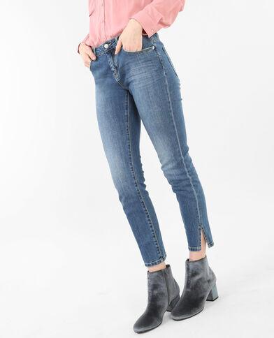 7/8-Skinny-Jeans mit Schlitzen an den Knöcheln Blau