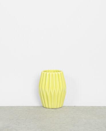 Kleine Vase aus Keramik Gelb