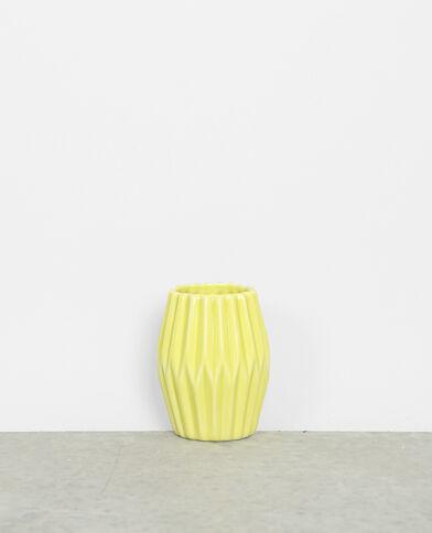 Petit vase céramique jaune