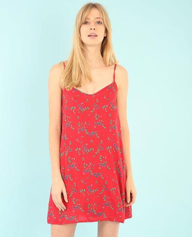 Kleid im Lingerie-Stil Rot