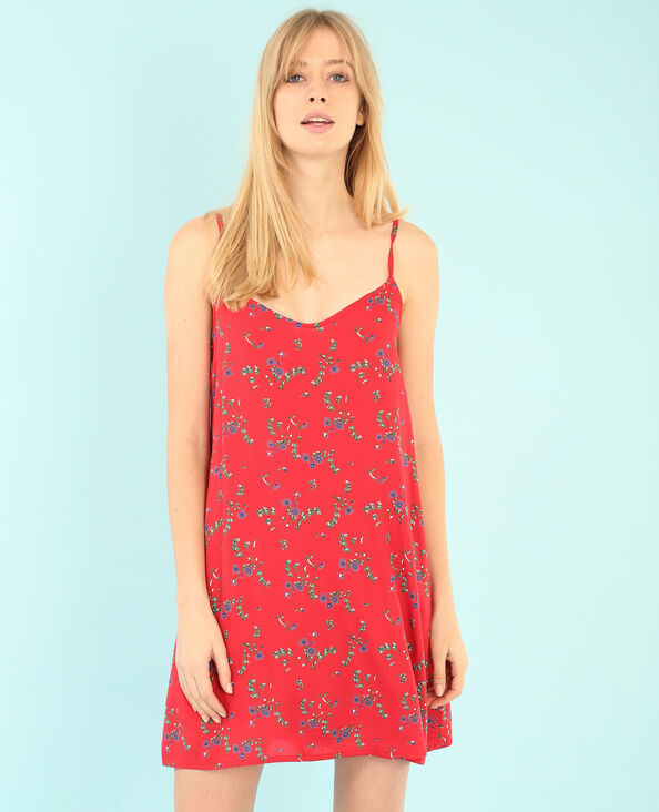 Bedrucktes Kleid Rot