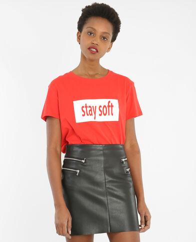 T-Shirt mit Schriftzug Rot