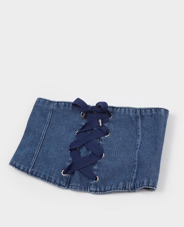 Korsettgürtel aus Jeansstoff Blau
