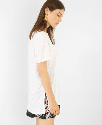 T-shirt oversize manches courtes blanc cassé