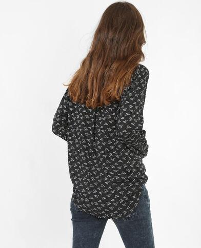 Blusa estampada negro