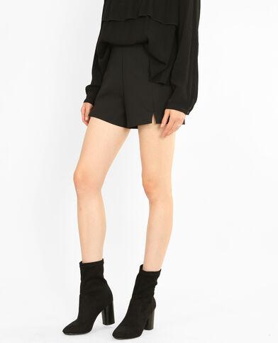Mini-Shorts mit Schlitzen Schwarz