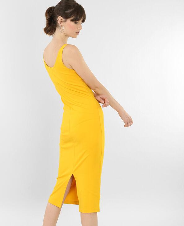 Robe longue bodycon jaune