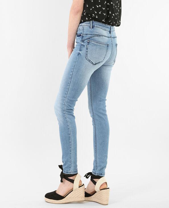 Jean skinny push-up bleu