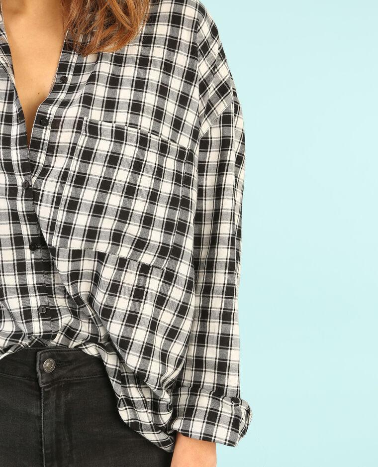 Camicia a righe con patch bianco sporco