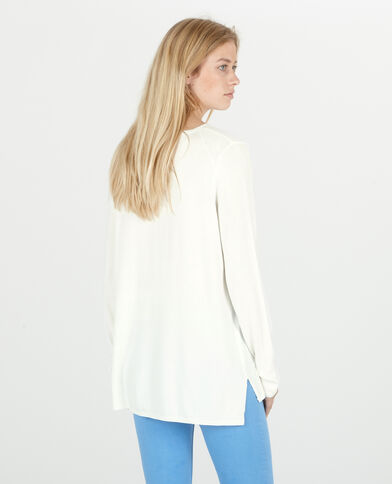 Pull lungo bianco sporco