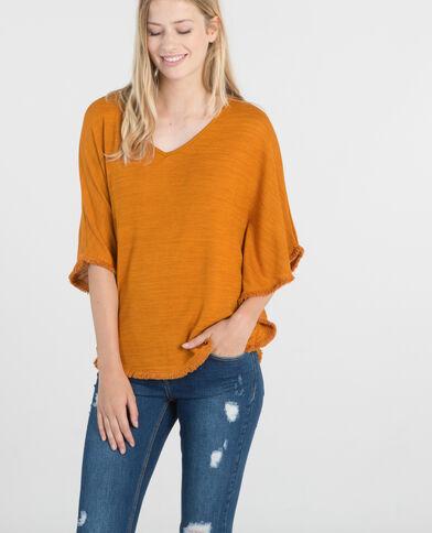 Camiseta poncho mostaza