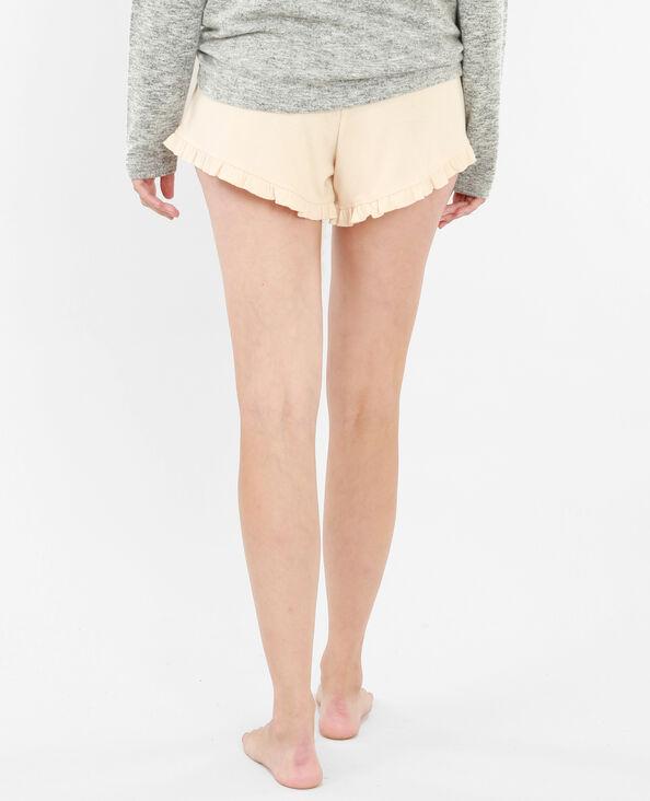 Short homewear volanté rose pâle