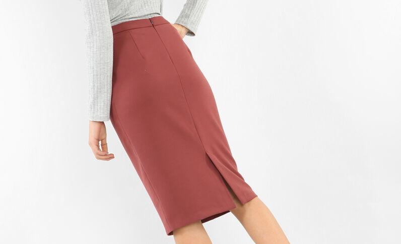 Falda de tubo teja