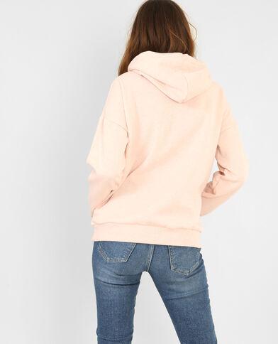 Kapuzen-Sweatshirt Zartrosa