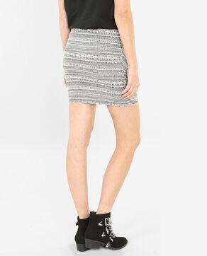 Mini jupe jacquard noir