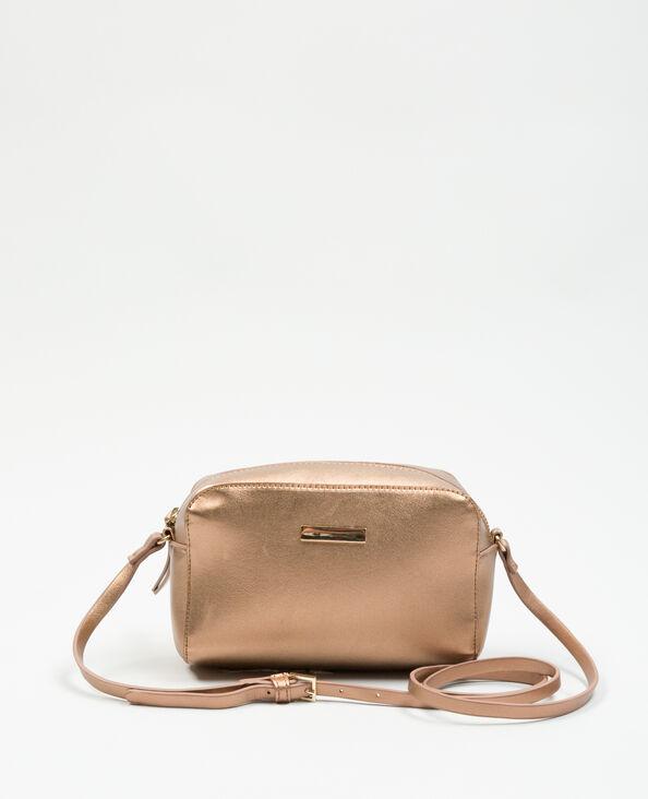 Boxy-Tasche mit Metallic-Touch Kupferrot