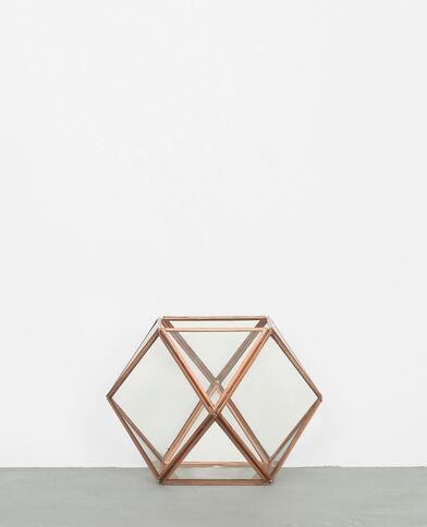 Terrario hexagonal ramato