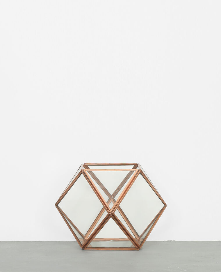 Terrarium hexagonal cuivré