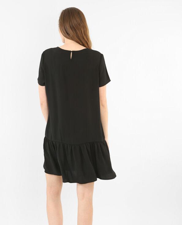 Peplum-Kleid Schwarz