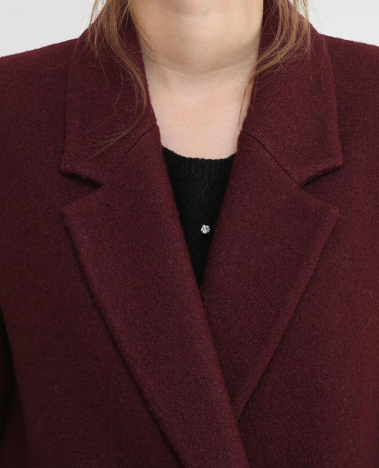 Cappotto dritto in panno di lana Granata