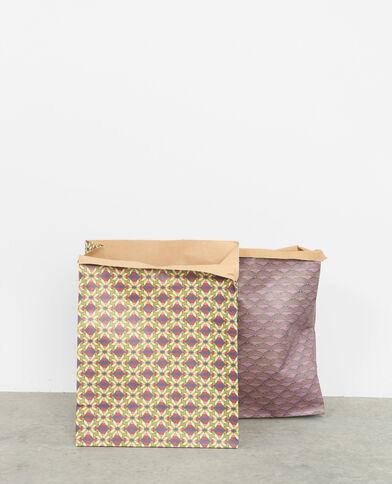 Lot de 2 paper bags violet
