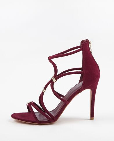 Sandaletten mit Absatz Granatrot