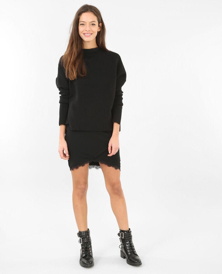 mini jupe avec dentelle noir 690241899a08 pimkie. Black Bedroom Furniture Sets. Home Design Ideas
