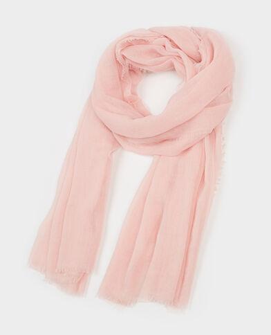 Foulard esprit chèche rose pâle