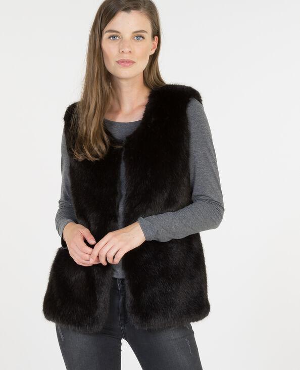 Vestes femme fashion pimkie - Gilet fausse fourrure femme ...