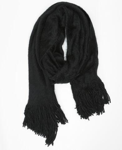 Echarpe oversize duvet noir