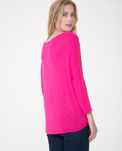 T-shirt maniche a pipistrello Rosa