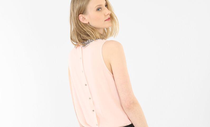 Top morbido gioiello rosa