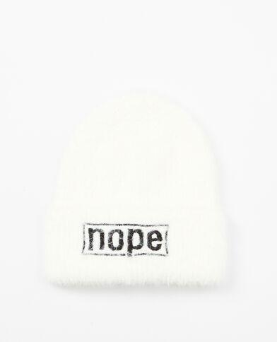 Mütze mit Aufschrift Weiß