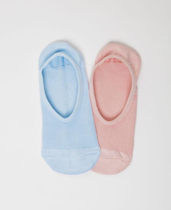 Set van 2 paar sokken hemelsblauw