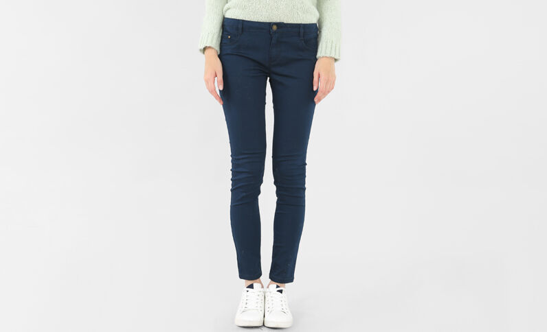 Pantalone slim blu marino