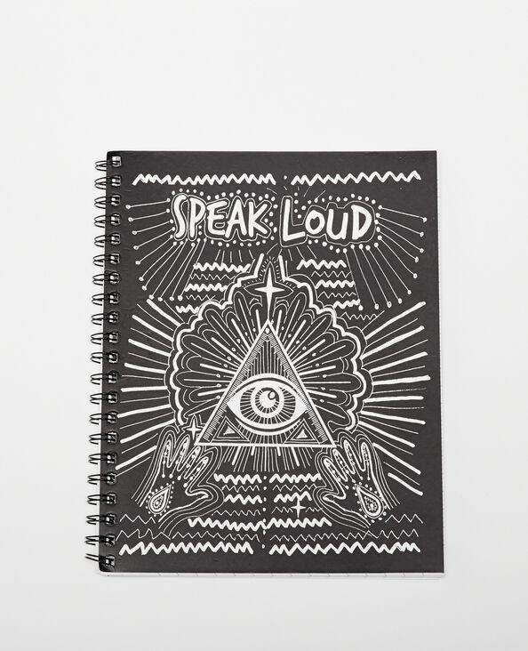 Grand notebook à spirales noir