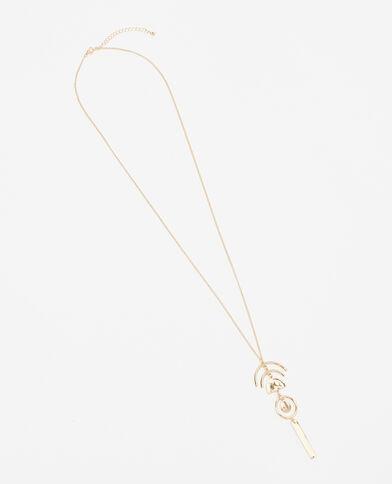 Geometrische Halskette Gold